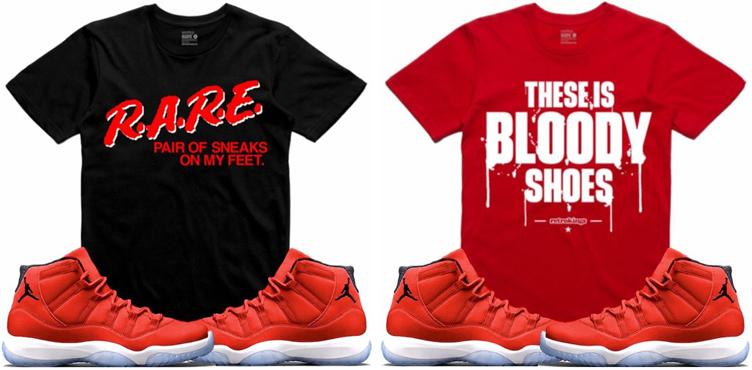 9c2bf18788e Jordan 11 Win Like 96 Gym Red Sneaker Tees