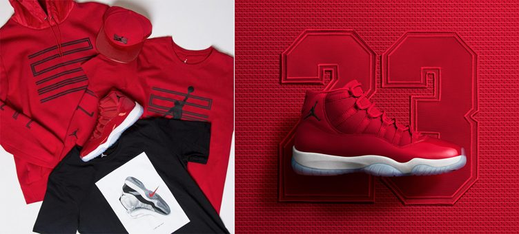 "e3c791e9032 Air Jordan 11 ""Win Like '96"" Collection Available at Champs Sports"