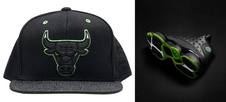 "Air Jordan 13 ""Altitude"" x Mitchell & Ness Chicago Bulls Altitude Hook Snapback"