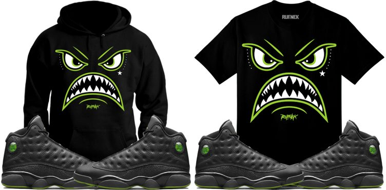"Original RUFNEK ""Warface"" Tee & Hoodie to Match the Air Jordan 13 ""Altitude"""
