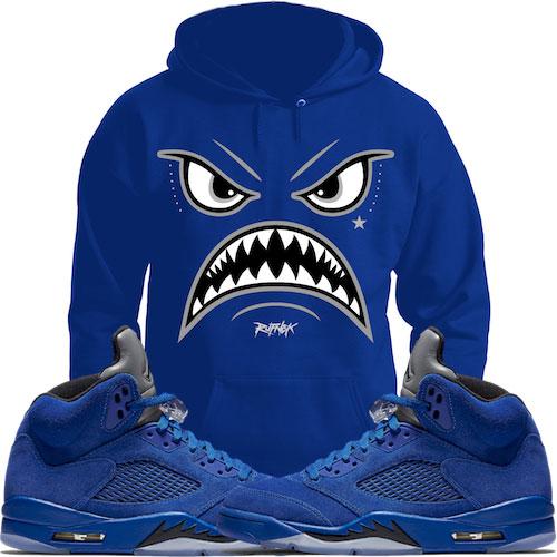 jordan-5-blue-suede-sneaker-match-hoodie