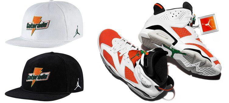 """Air Jordan 6 """"Gatorade"""" x Jordan Gatorade Corduroy Snapback Cap 94a809ccc24"""