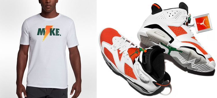 "Air Jordan 6 ""Gatorade"" x Jordan Like Mike Lightning T-Shirt"
