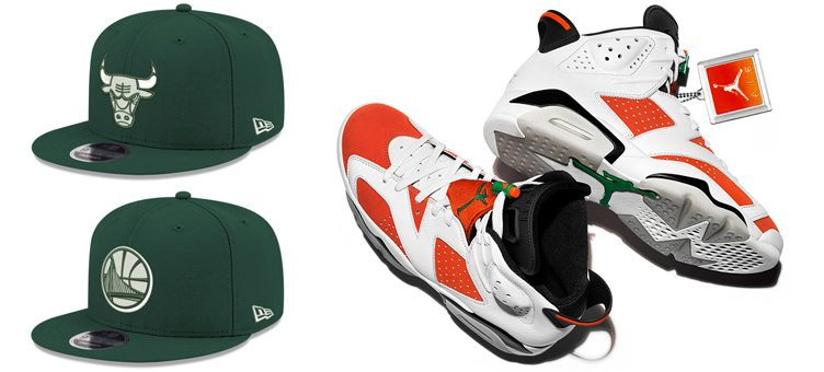 "Air Jordan 6 ""Gatorade"" x New Era NBA Dark Green 9FIFTY Snapback Caps"