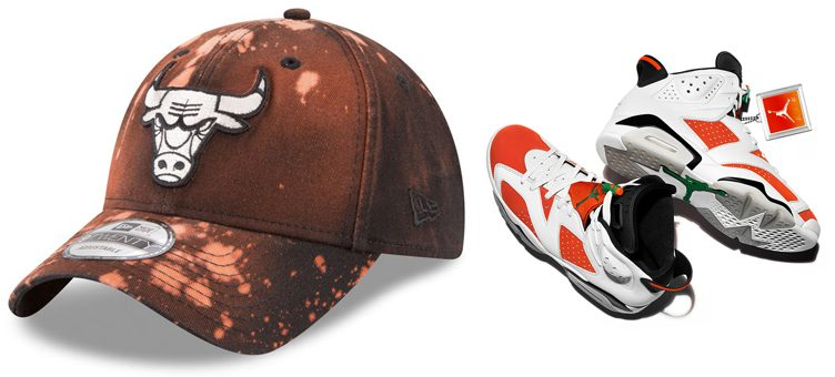 "Air Jordan 6 ""Gatorade"" x Chicago Bulls New Era Orange Bleached 9TWENTY Cap"