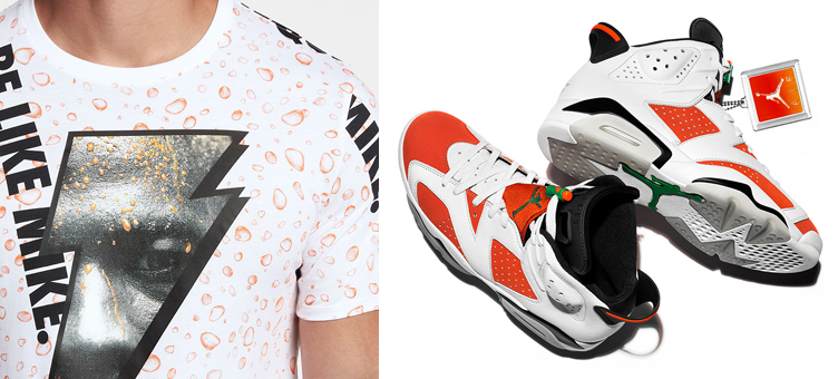 764caa02b949 Jordan 6 Gatorade Like Mike Matching Shirt