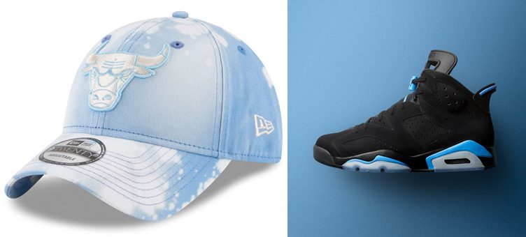 "Air Jordan 6 ""UNC"" x Chicago Bulls New Era Bleached Out 9TWENTY Denim Cap"