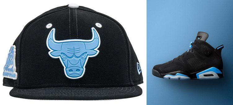 "Air Jordan 6 ""UNC"" x New Era Chicago Bulls JJ Exclusive Snapback Cap"