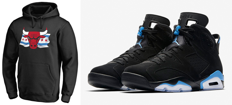 Chicago Bulls Shirts to Match Jordan 6 UNC | SneakerFits.com