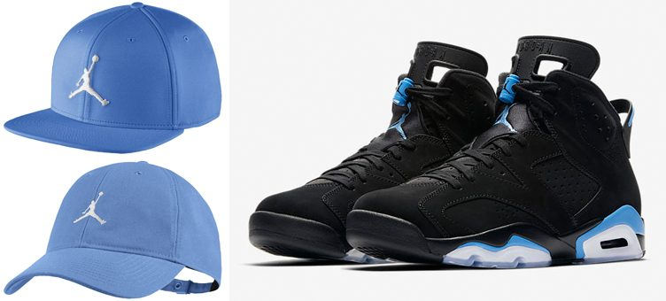 "Jordan University Blue Hats to Match the Air Jordan 6 ""UNC"""