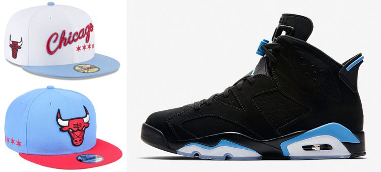 "Air Jordan 6 ""UNC"" x Chicago Bulls New Era NBA City Series Caps"