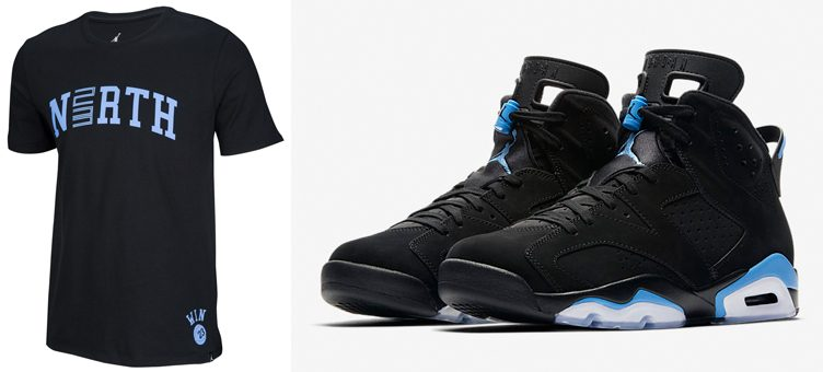 "Air Jordan 6 ""UNC"" x Jordan North T-Shirt"
