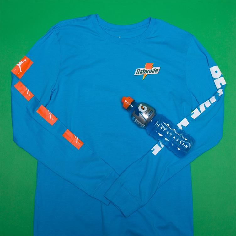 b38311e7cb0470 Jordan Gatorade Like Mike Blue Clothing