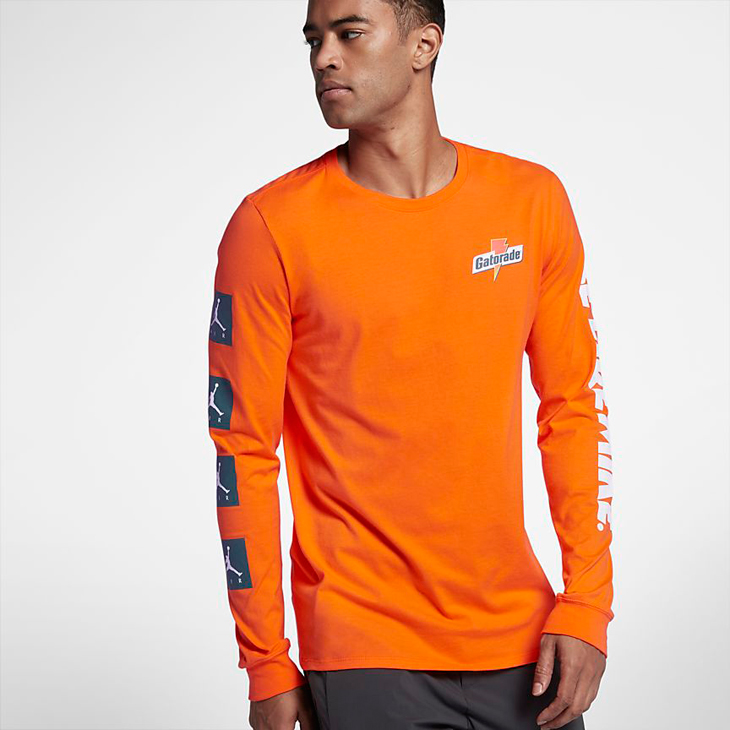 newest ff111 2e0fc jordan-gatorade-like-mike-long-sleeve-shirt-orange