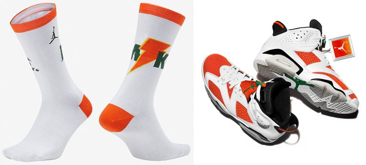 "Air Jordan 6 ""Gatorade"" x Jordan Gatorade ""Like Mike"" Crew Socks"