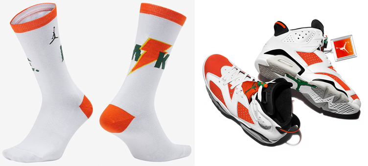 c6b42f54ef3 Jordan 6 Gatorade Like Mike Socks | SneakerFits.com