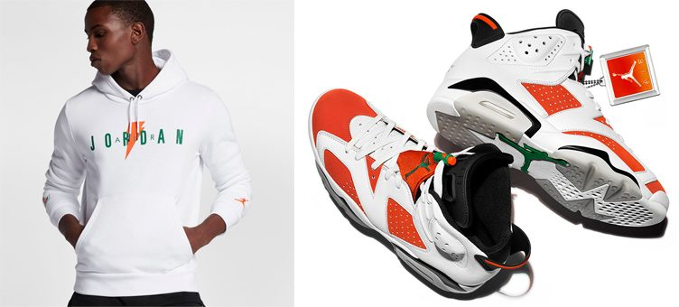 "Air Jordan 6 ""Gatorade"" x Jordan Like Mike Fleece Pullover Hoodie"