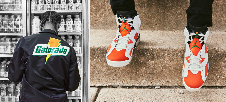"wholesale dealer b33f1 4ec6f With the Air Jordan 6 ""Gatorade"" ready to release, here s a look at some of  the Jordan x Gatorade ""Like Mike"" clothing and gear that Footlocker has ..."
