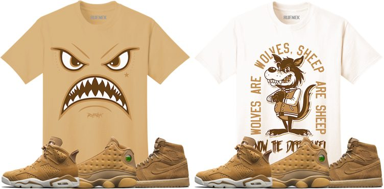 "Original RUFNEK Sneaker Shirts to Match the Jordan ""Golden Harvest"" Pack"