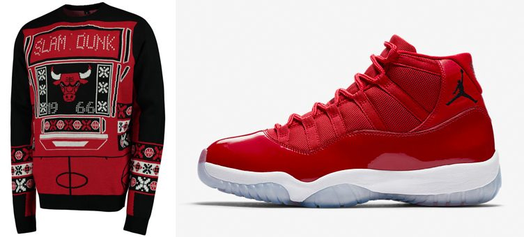 "3fadbff8376 Chicago Bulls Ugly Holiday Sweaters to Match the Air Jordan 11 ""Win Like '96 """