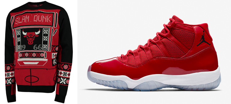 Jordan 11 Win Like 96 Ugly Holiday Sweaters Sneakerfits Com