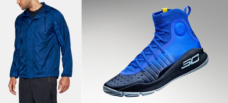 "Under Armour Curry 4 ""Away"" x Under Armour SC30 Windbreaker Jacket"