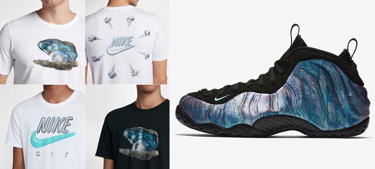 "pretty nice 92781 030e7 abalone-foamposite-nike-shirts. As the Nike Air Foamposite One "" ..."