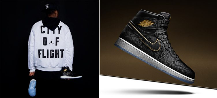 "Jordan ""City of Flight"" Jacket x Air Jordan 1 Retro High ""City of Flight"""