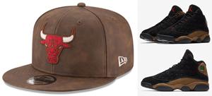 air-jordan-13-olive-bulls-hats