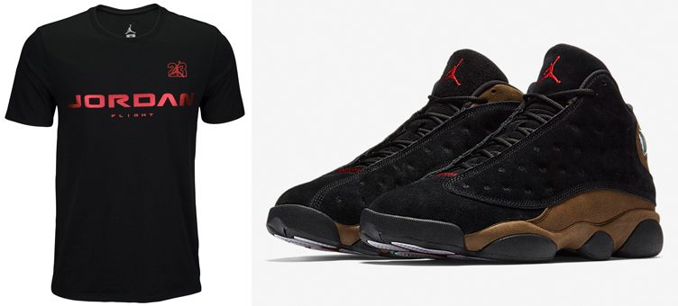 air-jordan-13-olive-matching-shirt