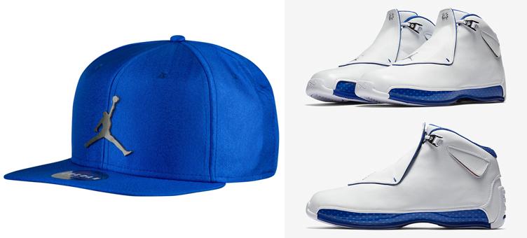 Air Jordan 18 Sport Royal Wizards Hat