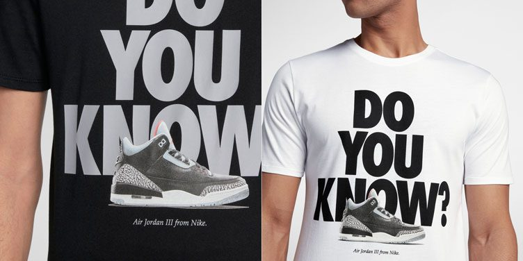 "Air Jordan 3 ""Black Cement"" Sneaker Tee"