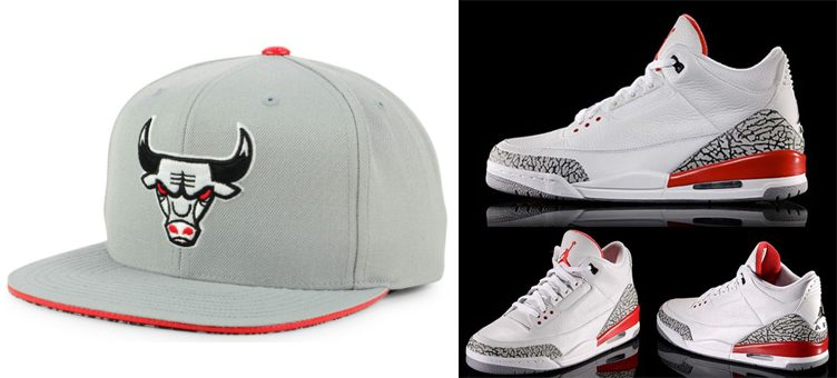 "Air Jordan 3 ""Katrina"" x Chicago Bulls Mitchell & Ness NBA Katrina 3 Pop Color Strapback Cap"