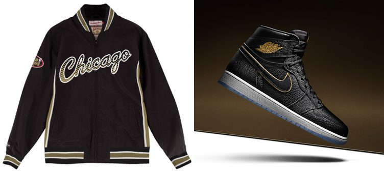 "Air Jordan 1 Retro High OG ""All-Star Los Angeles"" x Chicago Bulls Mitchell & Ness Team History Warm Up Jacket"