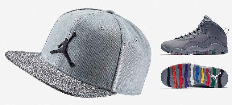 a34d97e106c8 Air Jordan 10 Cool Grey Snapback Hat