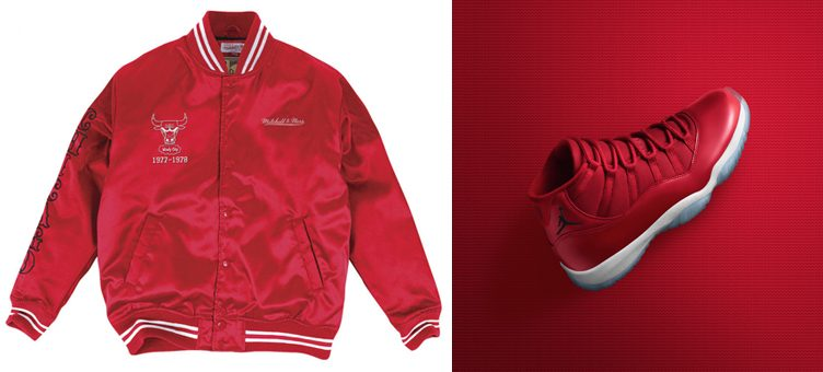 "Air Jordan 11 ""Win Like '96"" x Chicago Bulls Mitchell & Ness NBA Satin Jackets"