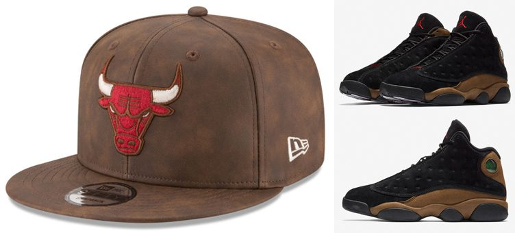 "Chicago Bulls New Era Caps to Match the Air Jordan 13 ""Olive"""