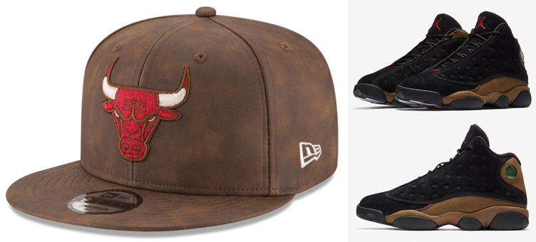 3609f7af0a4 Bulls Hats to Match the Jordan 13 Olive