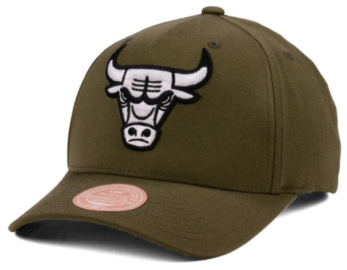 jordan-13-olive-bulls-snapback-cap