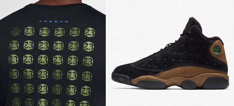 jordan-13-olive-sneaker-tee