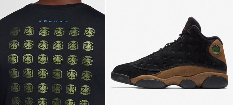 "Air Jordan 13 Retro ""Olive"" x Jordan Sportswear AJ 13 T-Shirt"