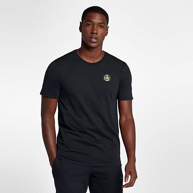 jordan-13-olive-sneaker-tee-black-1