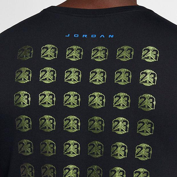 jordan-13-olive-sneaker-tee-black-3