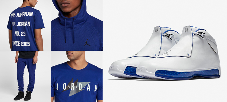 bf13a4a8193 Air Jordan 18 Sport Royal Clothing | SneakerFits.com