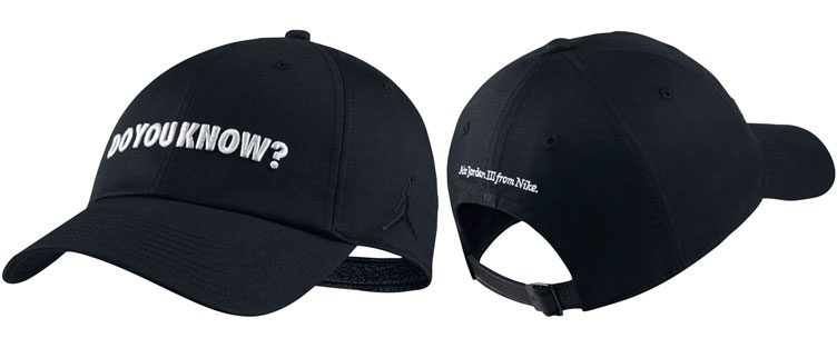 "Jordan 3 ""Do You Know?"" Strapback Cap"