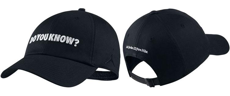 jordan-3-black-cement-2018-matching-hat