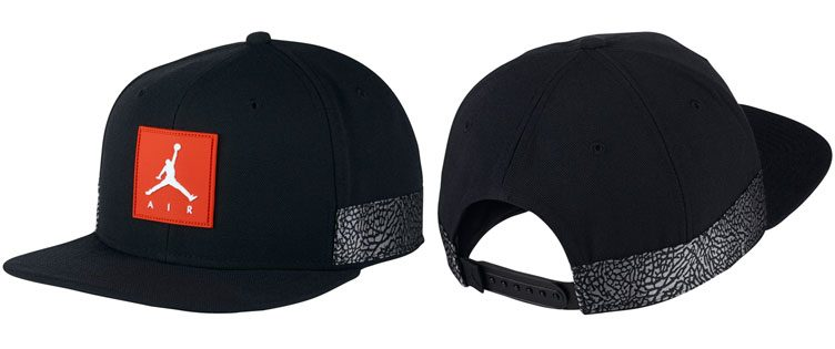 "Air Jordan 3 Retro ""Black Cement"" Jumpman Pro Snapback Cap"