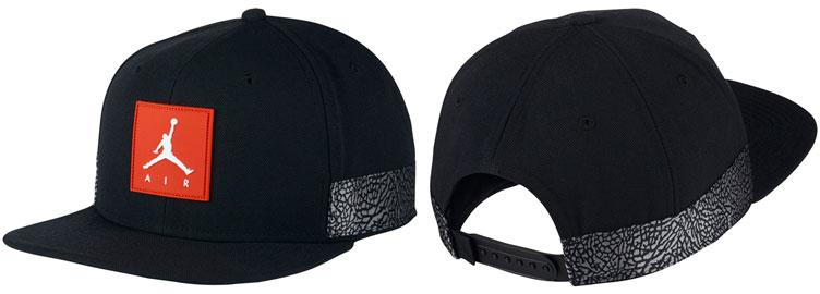 jordan-3-black-cement-2018-snapback-hat