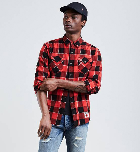 jordan-4-levis-bulls-plaid-shirt-1