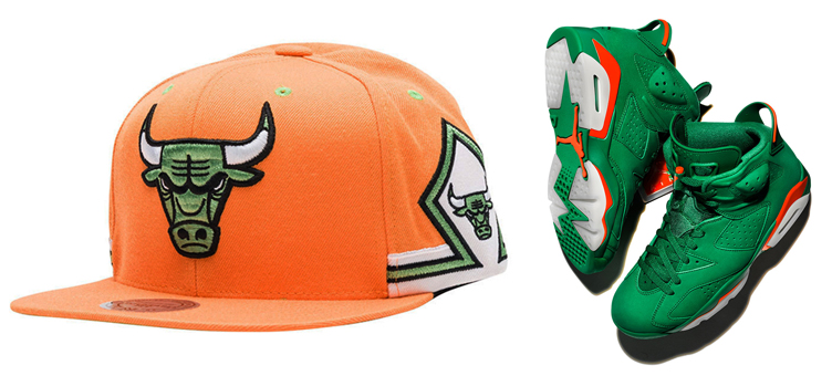 jordan-6-gatorade-green-bulls-hat-match